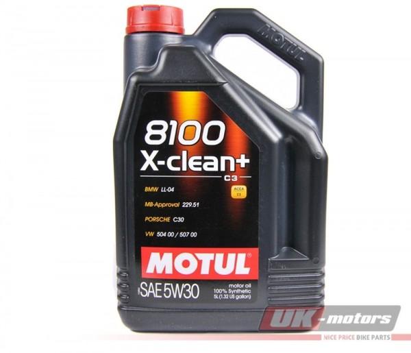"""MOTUL Motoröl """"8100 X-Clean"""" 5W30 5 Liter"""