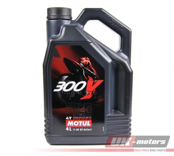 """MOTUL Motoröl 4T """"300V FL Road Racing Factory Line"""" 5W40 4 Liter"""