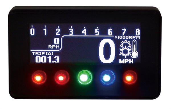 KOSO Digitales Multifunktions-Cockpit schwarz, D1-OLED