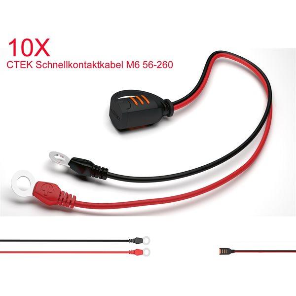 10 X CTEK Schnellkontaktkabel / Comfort Connect TYP2 56-260