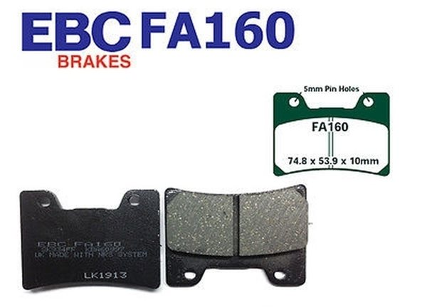 EBC Blackstuff Standard Bremsbeläge FA160