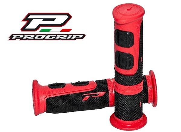 Progrip ATV Griff mit zwei Materialkomponenten schwarz / rot 964.02